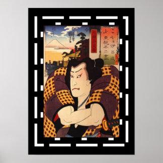 Art Japanese Actor Vintage Poster Utagawa Kunisada