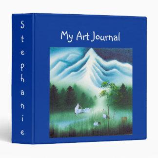 Art Journal Binder w Name, Vintage Images & Quote
