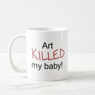 Art Killed My Baby Basic White Mug