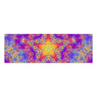 Art lumineux de kaléidoscope de remous de couleur carte de visite petit format