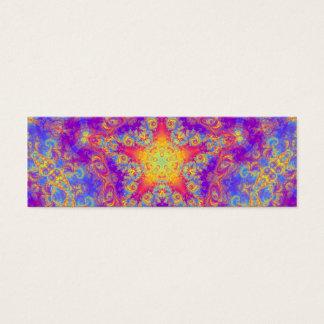 Art lumineux de kaléidoscope de remous de couleur mini carte de visite