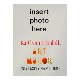 "Art Major Graduate 6.5"" X 8.75"" Invitation Card"