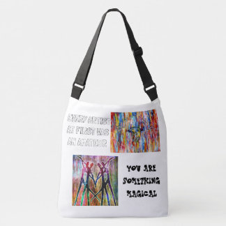 Art makes everything awesome crossbody bag