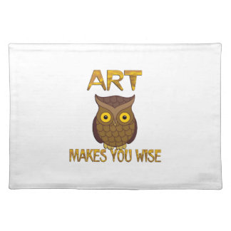 Art Makes You Wise Placemat
