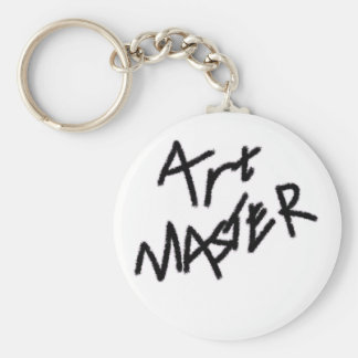 Art Master Original Basic Round Button Keychain