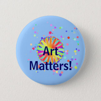 Art Matters! Color Wheel Gone Wild 2 Inch Round Button