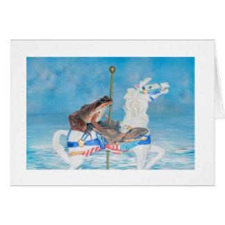 Art mignon de photo de conte de fées carte de vœux