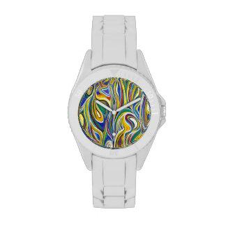 Art moderne coloré montres