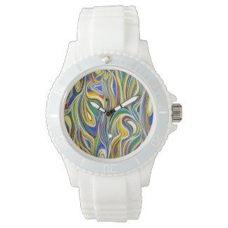 Art moderne coloré montres bracelet
