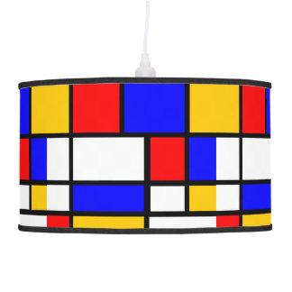 Art Mondrian Style Pendant Lamp