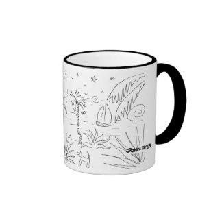 Art Mug: Classic Black and White Cornish