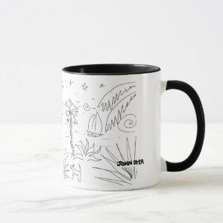 Art Mug: Classic Black and White Cornish Mug