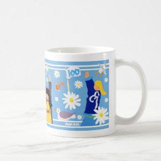 Art Mug: Guides 100 Centenary Mug. Blue. Coffee Mug