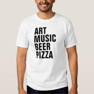 ART MUSIC BEER PIZZA TEES