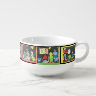 Art & Music Students Paper Collage Soup Mug