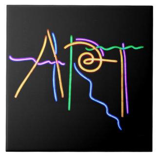 Art Neon Sign Tiles