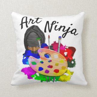Art Ninja Throw Pillow