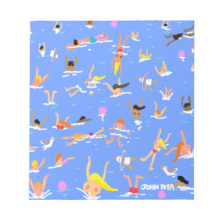 Art Notepad: Funky Swimmers by John Dyer Memo Notepads