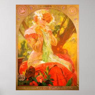 Art Nouveau 1896 Mucha Poster