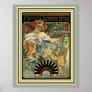 Art Nouveau Alphonse Mucha Ad Poster 16 x 20