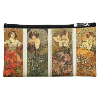 Art Nouveau Alphonse Mucha Cosmetic Bag