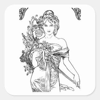 Art nouveau Alphonse Mucha sticker