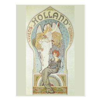 Art Nouveau Angel and Mother Postcard