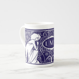Art Nouveau Angels Monogram China Mug