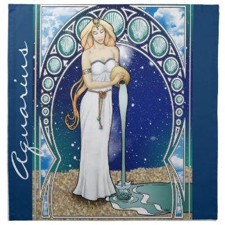 Art Nouveau Aquarius Napkin