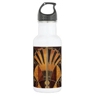 art Nouveau,art deco, vintage, multi wood colours, 532 Ml Water Bottle