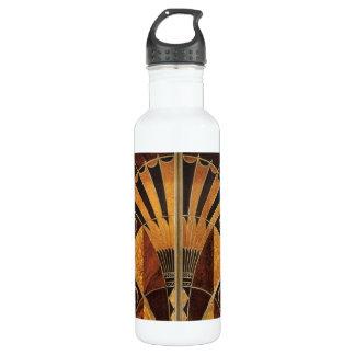 art Nouveau,art deco, vintage, multi wood colours, 710 Ml Water Bottle