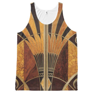 art Nouveau,art deco, vintage, multi wood colours, All-Over-Print Tank Top