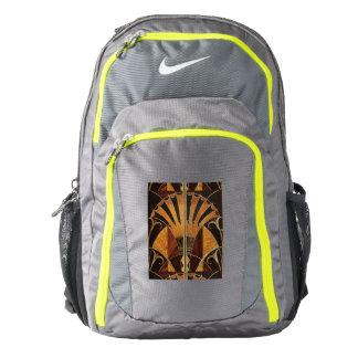 art Nouveau,art deco, vintage, multi wood colours, Backpack
