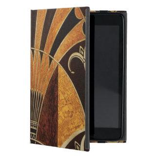 art Nouveau,art deco, vintage, multi wood colours, Cover For iPad Mini