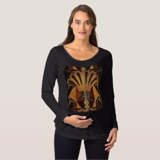 art Nouveau,art deco, vintage, multi wood colours, Maternity T-Shirt
