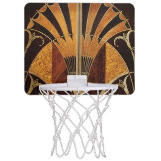 art Nouveau,art deco, vintage, multi wood colours, Mini Basketball Hoop