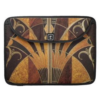 art Nouveau,art deco, vintage, multi wood colours, Sleeve For MacBook Pro