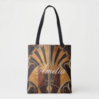 art Nouveau,art deco, vintage, multi wood colours, Tote Bag