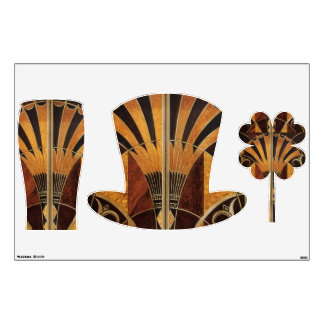 art Nouveau,art deco, vintage, multi wood colours, Wall Sticker