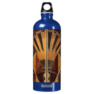 art Nouveau,art deco, vintage, multi wood colours, Water Bottle
