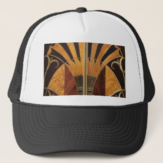 art Nouveau,art deco, vintage,wood colours, chic Trucker Hat