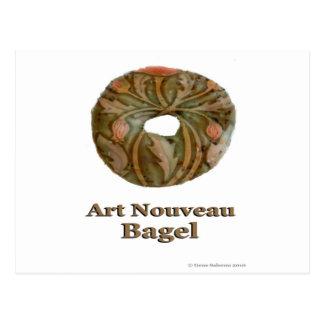 Art Nouveau Bagel Postcard