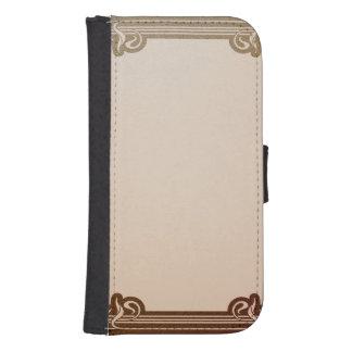 art nouveau, beige,brown,antique,belle époque, ele samsung s4 wallet case
