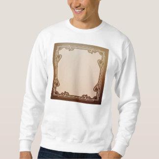 art nouveau, beige,brown,antique,belle époque, ele sweatshirt
