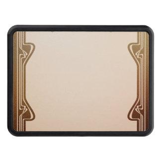 art nouveau, beige,brown,antique,belle époque, ele trailer hitch cover