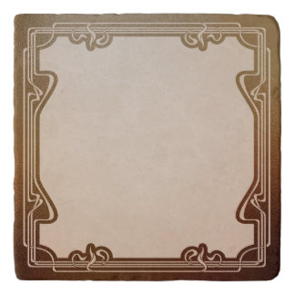 art nouveau, beige,brown,antique,belle époque, ele trivet