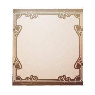 art nouveau, beige,brown,antique,belle époque, notepad