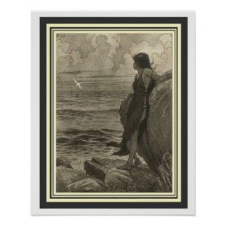 "Art Nouveau ""Beyond the Horizon"" by Fidus 16 x 20 Poster"