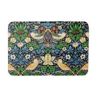 Art Nouveau Bird and Flower Tapestry Pattern Bath Mat