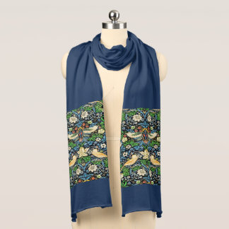 Art Nouveau Bird and Flower Tapestry Pattern Scarf